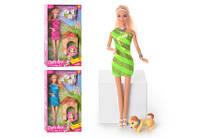 Лялька Барбі з собачкою Defa Lucy, Pets loving - салатове плаття!!