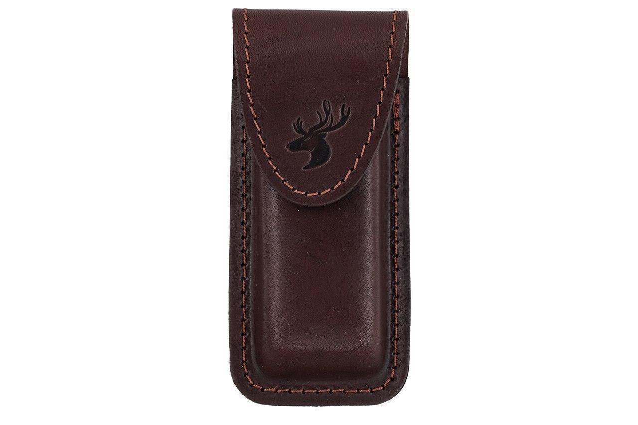 Подсумок, чехол для магазина ПМ (пистолет Макарова) формованный B на липучке  (кожа, коричневый)
