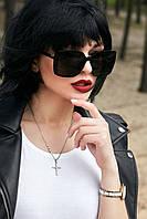 Квадратные солнцезащитные черные женские очки (1382.4130 svt)