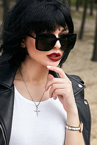 Квадратні чорні сонцезахисні окуляри жіночі (1382.4130 svt)