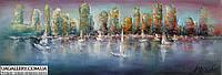 «Огни мегаполиса» картина маслом