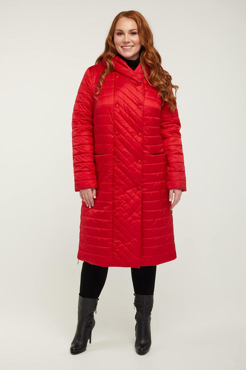 Женское стеганое пальто батал размеры 52-66 арт.854