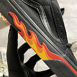 🔥 Кроссовки Vans Old Skool Black FIRE Ванс Олд Скул Черный 🔥 Вэнсы Олд Скул 🔥 Ванс мужские кроссовки🔥, фото 9