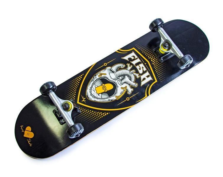 Скейтборд Fish Skateboard Heart