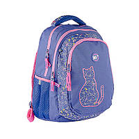 """Рюкзак школьный YES T-22 для девочки 10-13 лет """"Cats"""""""