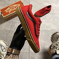 🔥 Кроссовки Vans Old Skool Red Brown Ванс Олд Скул Красный 🔥 Вэнсы Олд Скул 🔥 Ванс мужские кроссовки🔥