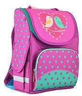 Рюкзак школьный для девочки 6-9 лет каркасный Smart PG-11 Birdies, 34*26*14