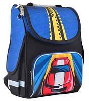 Рюкзак школьный каркасный для мальчика 6-9 лет Smart PG-11 Car, 34*26*14