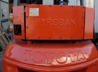 Погрузчик дизельный Toyota   PYROBAN, фото 2