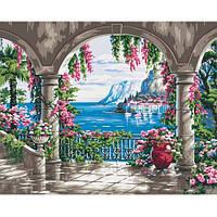Пейзаж- Райское место . Картина по номерам на холсте - 40х50. С подрамником. Идейка