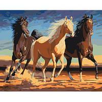 Животные - Табун 2. Картина по номерам на холсте - 40х50. С подрамником. Идейка