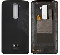 Задняя крышка батареи для LG Optimus G2 D802, черный, оригинал