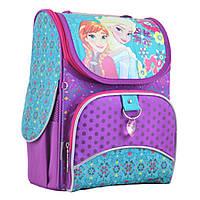 Рюкзак шкільний каркасний YES для дівчинки 6-9 років H-11 Frozen purple, 33.5*26*13.5, фото 1
