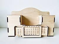 Настольный органайзер с вечным календарем Woody