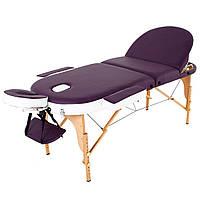 Масажний стіл дерев'яний 3-х сегментний RelaxLine Mirage кушетка масажна для масажу