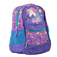 Рюкзак детский  YES  K-20 Unicorn, 29*22*15.5  на одно отделение с боковыми карманами