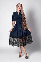 Платье с гипюровой вставкой,размер 46,48,50,52