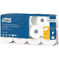 Туалетная бумага в стандартных рулонах TORK (8шт в 1 упаковке)