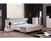 Кровать MW1600 (White, Black) - спальня Гармония