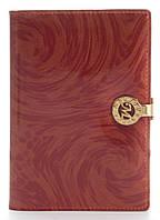 Стильная лаковая кожаная обложка для документов высокого качества MARIO VERONNI art. MV-6124A красный, фото 1
