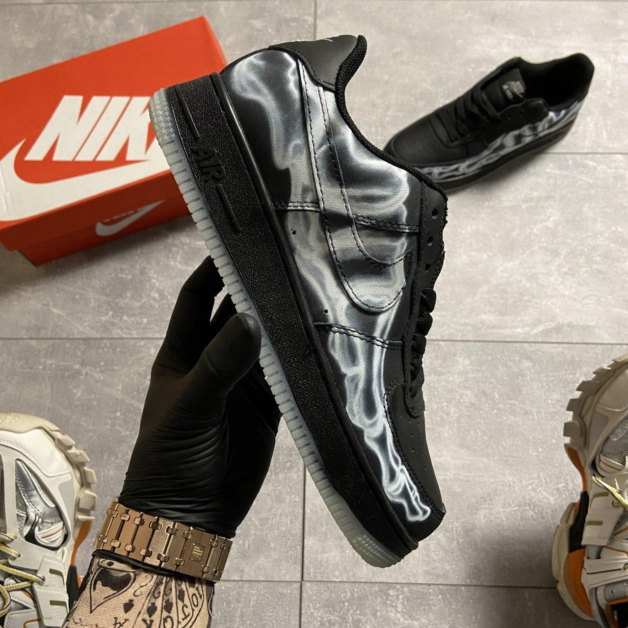 ВИДЕО 🔥 Кроссовки Nike Air Force 1 Skeleton Black Найк Аир Форс Черный Скелетон 🔥 Найк мужские кроссовки 🔥