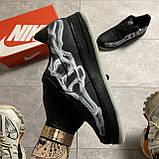 ВИДЕО 🔥 Кроссовки Nike Air Force 1 Skeleton Black Найк Аир Форс Черный Скелетон 🔥 Найк мужские кроссовки 🔥, фото 4