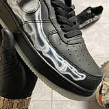 ВИДЕО 🔥 Кроссовки Nike Air Force 1 Skeleton Black Найк Аир Форс Черный Скелетон 🔥 Найк мужские кроссовки 🔥, фото 5