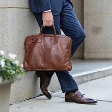 Мужской кожаный портфель — стильный аксессуар для современного мужчины
