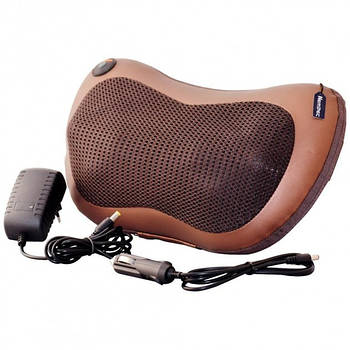 Массажная подушка подголовник массажер в машину Massage pillow для спины и шеи - лечебный массаж