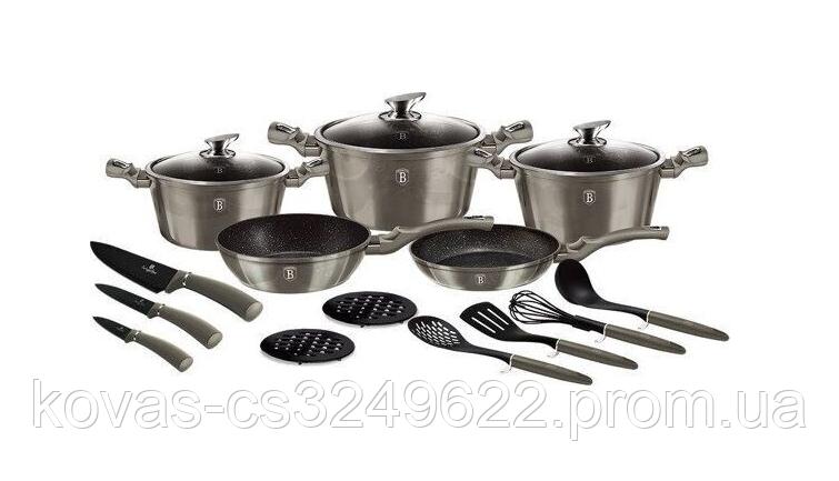 Набор кастрюль Berlinger Haus со сковородками - 17 предметов