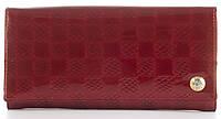Лаковий елітний шкіряний якісний стильний жіночий гаманець MARIO VERONNI art. MV-5181A червоний, фото 1