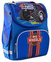 """Рюкзак школьный для мальчика 6-9 лет каркасный Smart PG-11 """"Big Wheels"""""""