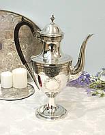 Большой английский посеребренный кофейник, серебрение, Англия, винтаж, фото 1
