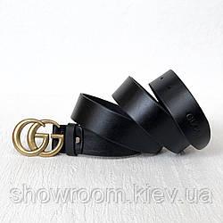 Женский стильный кожаный ремень (5002) gold