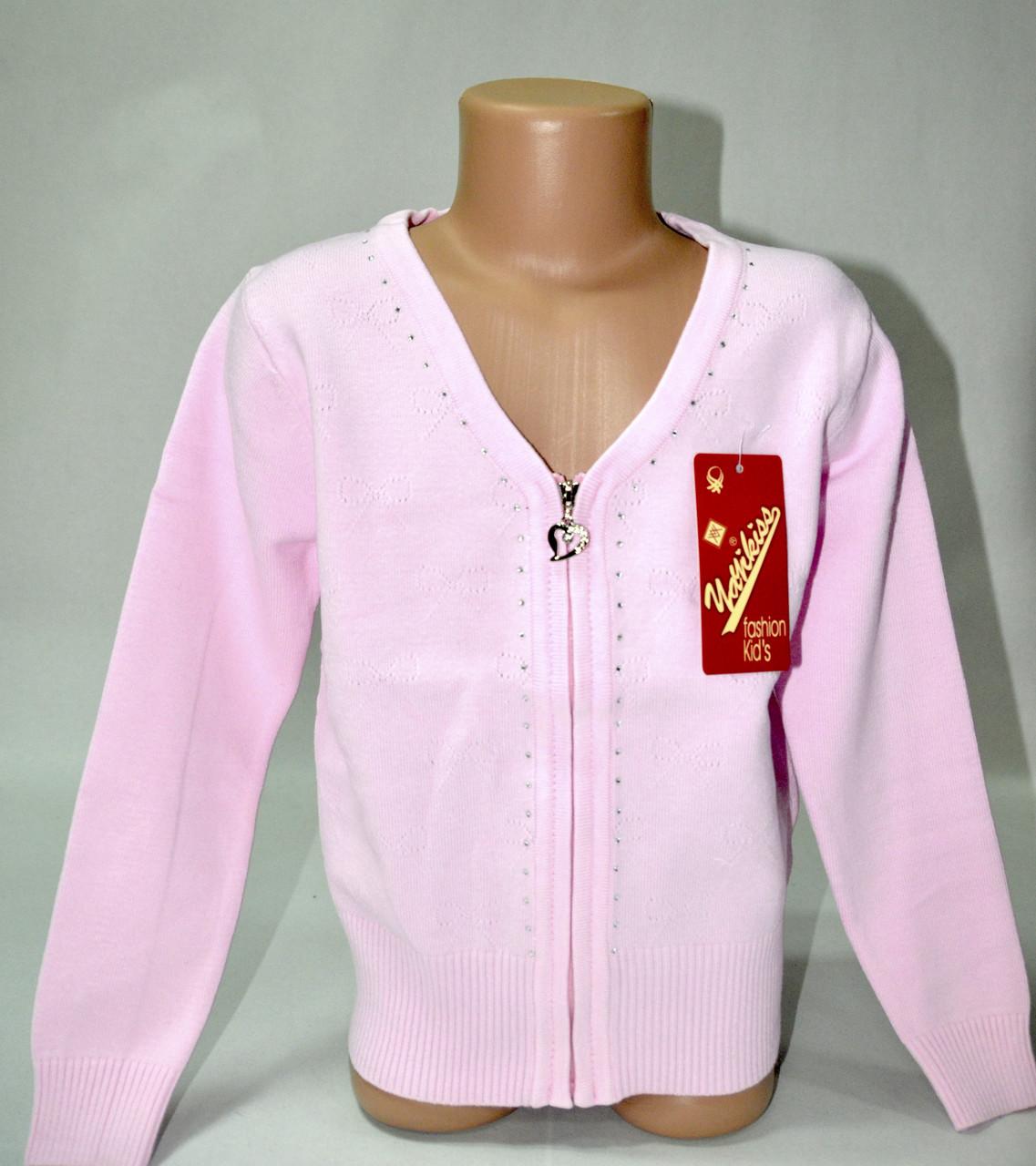 Кофта Many&Many розовая на молнонии с V-горловиной., фото 1
