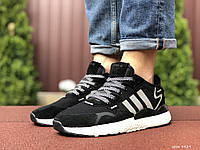 Мужские кроссовки Adidas Nite Jogger Boost 3M black/white. [Размеры в наличии: 44,46], фото 1