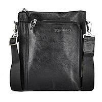Мессенджер мужской кожаный через плечо три отделаTofionno W018-4 BLACK, фото 1