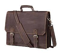 Коричневый мужской портфель из натурально кожи Tiding Bag GA2095R, фото 1