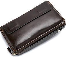 Клатч коричневый Tiding Bag 8039C