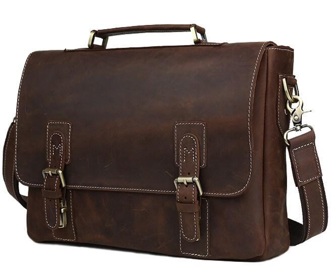 Мужской портфель из натуральной кожи для документов TIDING BAG T8069DB