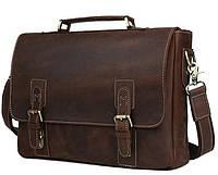 Мужской портфель из натуральной кожи для документов TIDING BAG T8069DB, фото 1