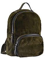 Женский меховой рюкзак YES YW-10, зеленый