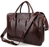 Портфель мужской кожаный для ноутбука и документов Jasper&Maine 7321C, фото 1