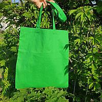 Экосумка зелёная, ткань хлопок САРЖА