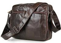 Мужской мессенджер натуральная кожа три отдела TIDING BAG 7332C, фото 1