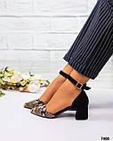 Туфли  открытые черный/рептилия, фото 2