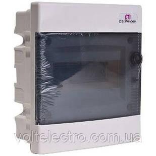 Щит внутрішньої розподільчий ЄСМ 8 РТ (8 мод. прозора двері) 1101010