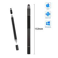 Стилус ручка SK 3 в 1 Capacitive Drawing Point Ball TPU Black