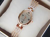 Женские кварцевые наручные часы GoGoey на металлическом ремешке со стразами, Pink, фото 1