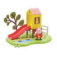Игровой Набор Peppa - Игровая Площадка Пеппы с горкой и фигуркой